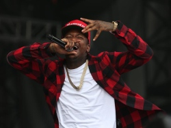 Keenon Daequan Ray Jackson, aka YG, performs at Made in America Festival in Philadelphia on August 31, 2014.  ( DAVID MAIALETTI / Staff Photographer )