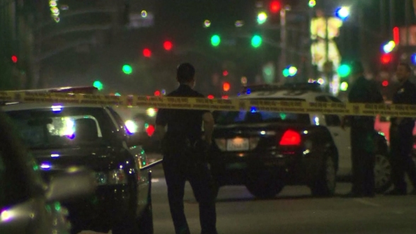 A man was shot in the head and killed during a gang-related shooting attack Sunday in South Los Angeles.